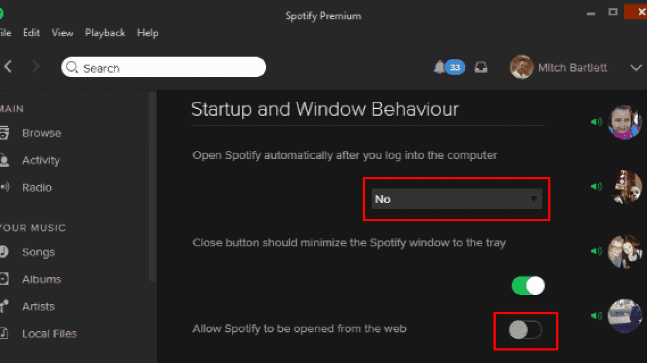 Disable Automatic Spotify Startup Using the Spotify App